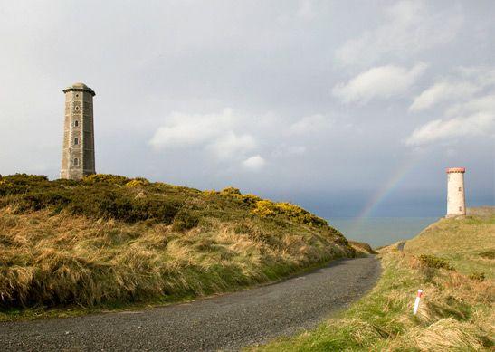 Brijit's favourite lighthouse near Wicklow, Ireland.
