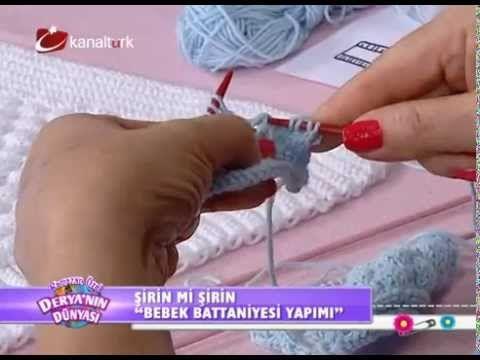 """Derya Baykal-Deryanın Dünyası-""""Bebek yeleği ve bebek battaniyesi yapımı""""-30.06.2014 - YouTube"""