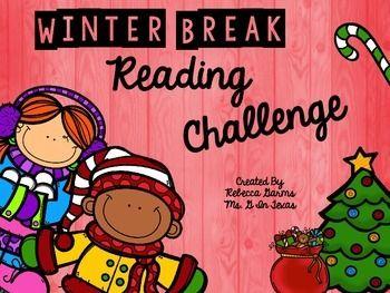 Freebie Winter Break Reading Challenge