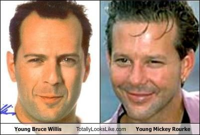 Young Bruce Willis and...