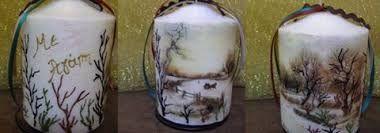 Αποτέλεσμα εικόνας για διακόσμηση κεριών με decoupage