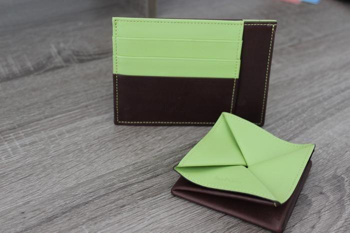 Portefeuille et porte-monnaie homme - Hurbane - Cuir Vert opal