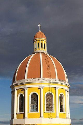 torre redonda de la catedral, Granada, Nicaragua, América Central