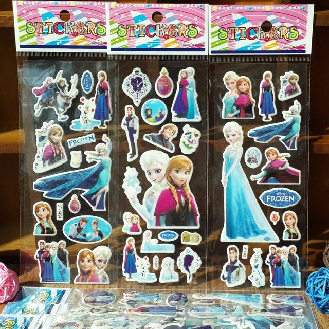 25PCS  Princess Anna Elsa foam sticker birthday party decorations kids party supplies baby shower party favor for girl