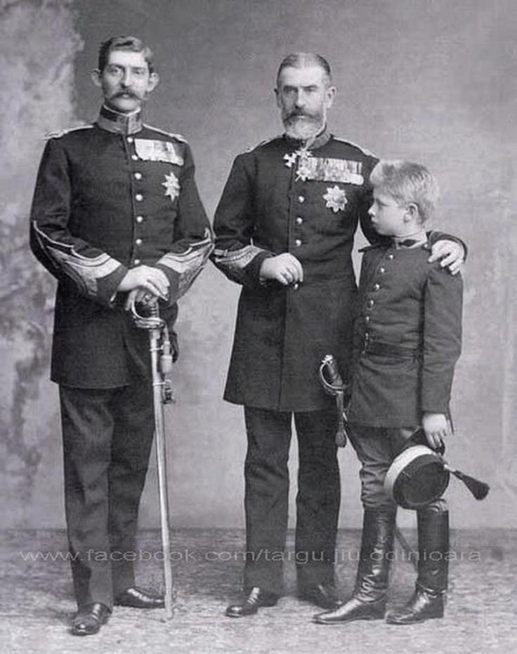 Regele Ferdinand ; Carol I si Carol II - 10 mai 1881