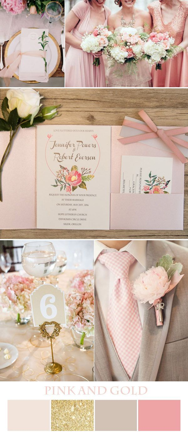 romatic pink and glitter wedding inspiration and invitations