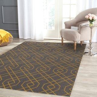 Modern Trellis Design Gray/Yellow Area Rug (5' 3 X 7' 3)   Overstock.com Shopping - The Best Deals on 5x8 - 6x9 Rugs