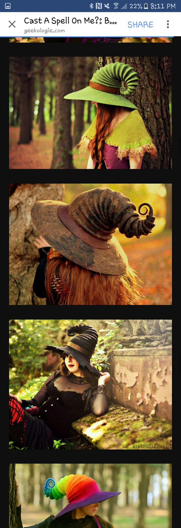 Felt witch hat