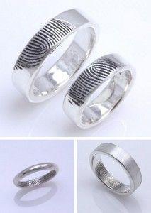alianza anillos con huella dactilar