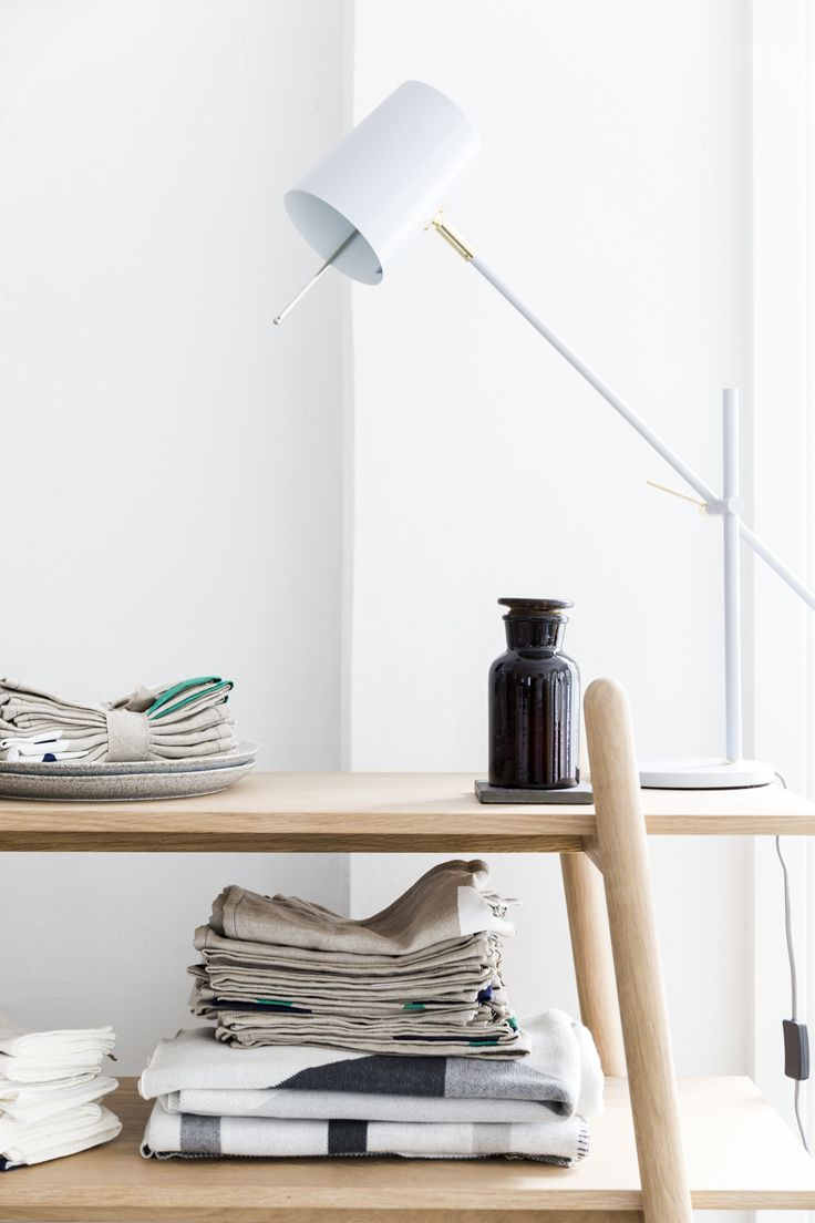 The simple elegance of the white Austin table lamp add a sense of balance to the space.