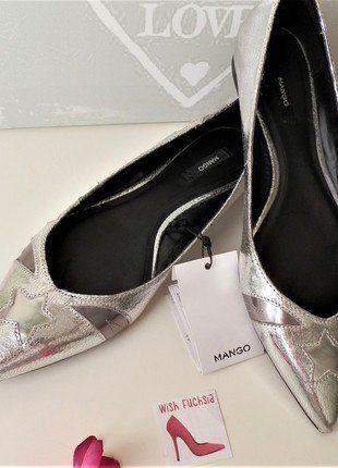 Compra mi artículo en #vinted http://www.vinted.es/zapatos-de-mujer/zapatos-planos/605518-bailarina-mango-kittina-plata