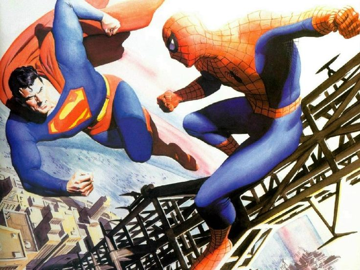 Spider-man vs. Superman, by Alex Ross