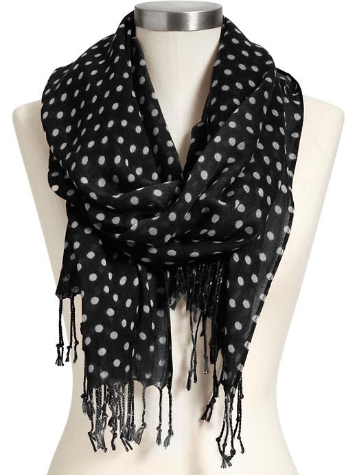 Old Navy Womens Printed Polka Dot Scarves. I need more polka dots