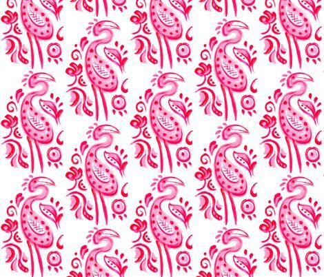 Hot Pink Paisley Flamingo fabric by katy_bratun on Spoonflower - custom fabric