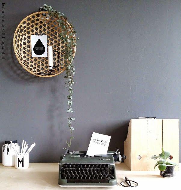 Leuk idee: mand aan de muur