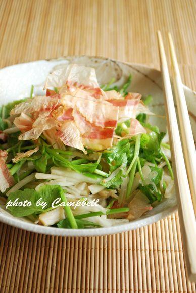 Scallop, Daikon, and Parsley Salad せりと大根とホタテのサラダ