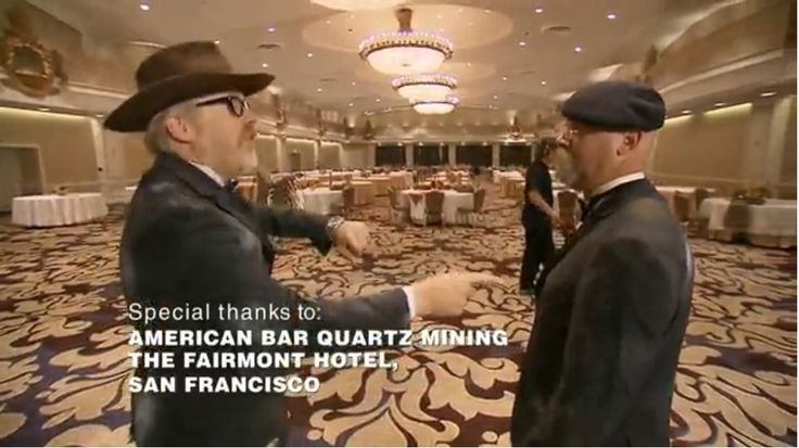 """TV-show """"MythBusters"""" at the Fairmont San Francisco Hotel"""