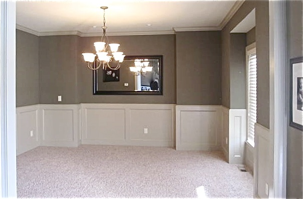 15 best images about dining room chair rail on pinterest for Chair rail height in living room