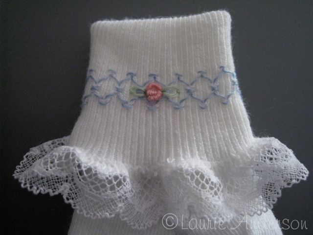 tutorial on how to smock socks. | heirloom sewing | Pinterest ...