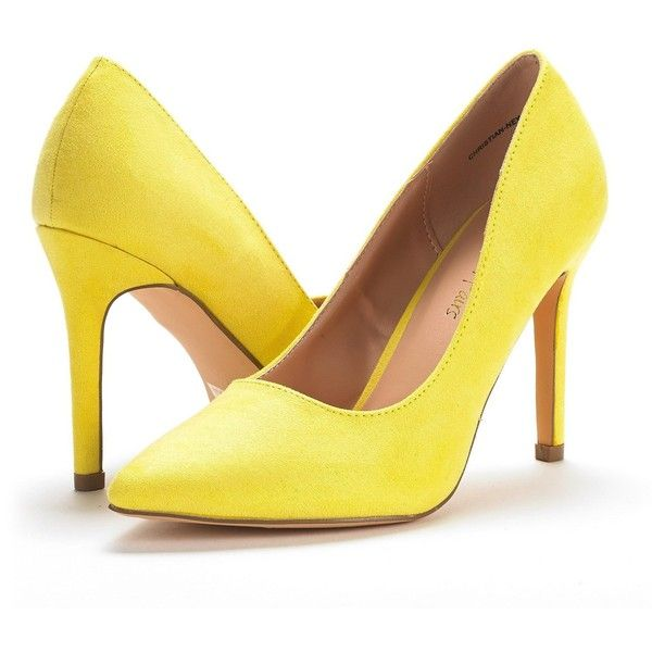 DREAM PAIRS Women's Christian-New High Heel Pump Shoes ($30) ❤ liked on Polyvore featuring shoes, pumps, wide shoes, heel pump, wide pumps, wide width shoes and wide width pumps
