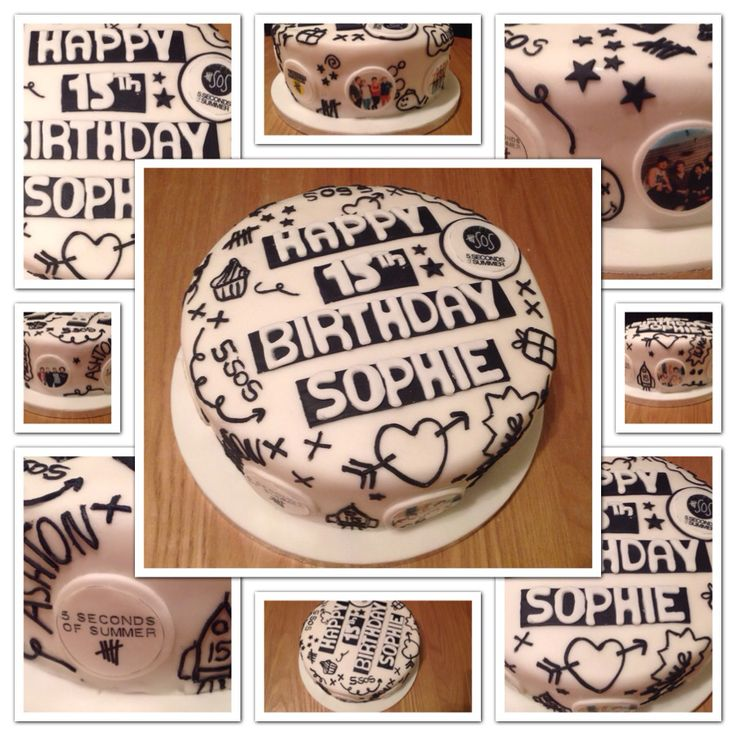 5 seconds of summer birthday cake