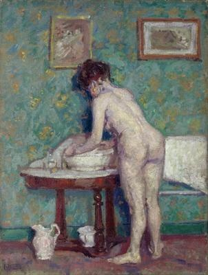 Interior with Nude by  Spencer Frederick Gore