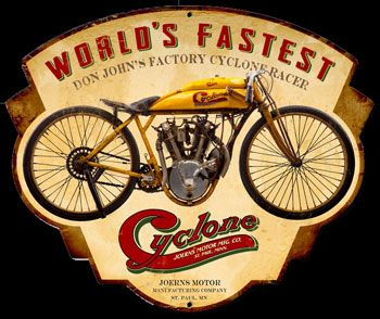 Click to find out more about Cyclone Motorcycle Sign