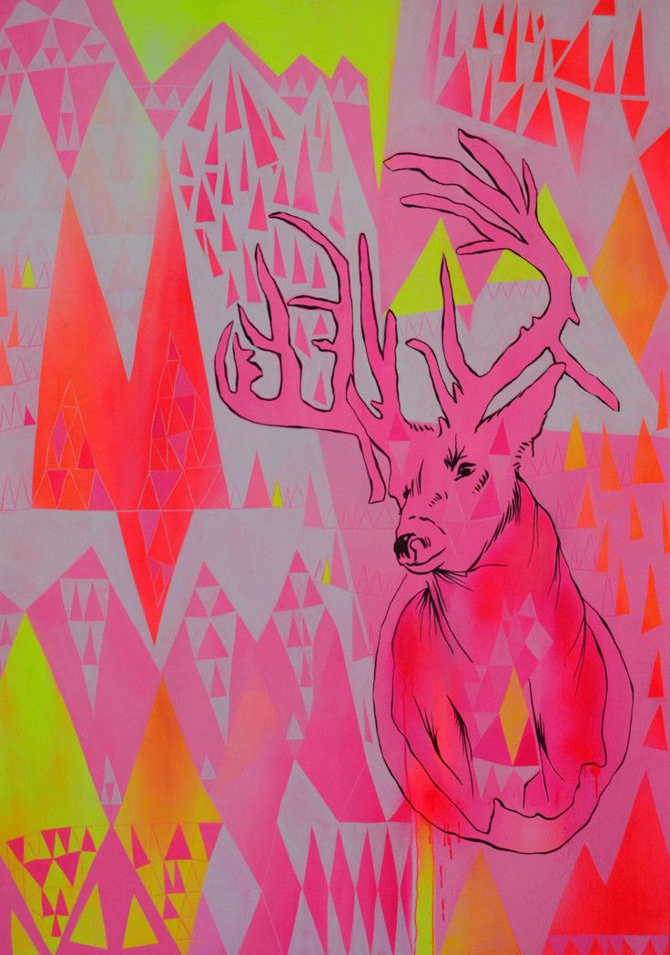 """Yellowstone, WY"" by Sarah Fordham   PLATFORMstore. Acrylic on canvas"