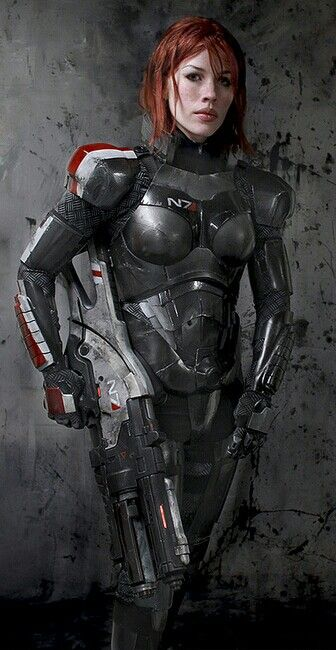 Wow! A Shepherd with serious freckles, just like Jane Shep has in the game. Commander Shepard cosplay