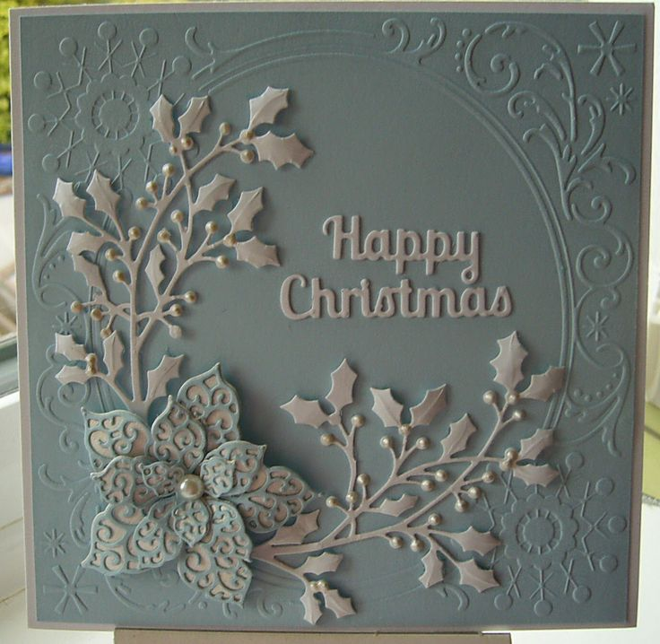 Two posts in 2 days!  Just wanted to show you the Freebie embossing folder that came with the Reindeer...