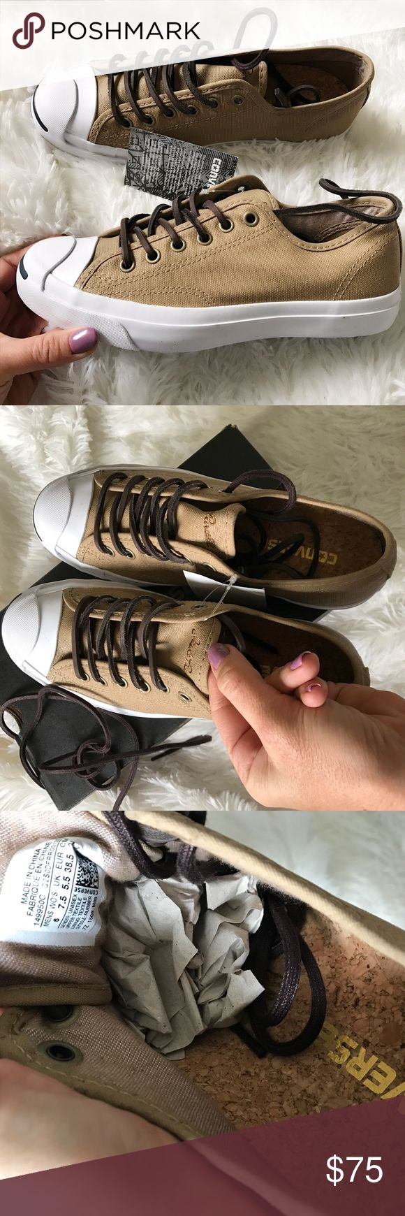 NWB 👣 CONVERSE JACK PURCELL SZ 6m | 7.5 w New never worn CONVERSE JACK PURCELL! CANVAS UPPER SIZE 6 MEN's | 7.5 WOMEN | 24 cm. This shoe is beyond perfect for men or women. 😍 LEATHER laces, with a set of additional traditional laces. Ships same or next day from smoke free home IN ORIGINAL FULL BOX.   PRICE IS FIRM. Bundle items to save. Checkout all my 👣 listings. 100% authentic product purchased directly from CONVERSE. Converse Shoes Sneakers