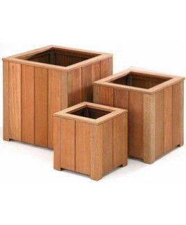 Jardiniere bois dur carré