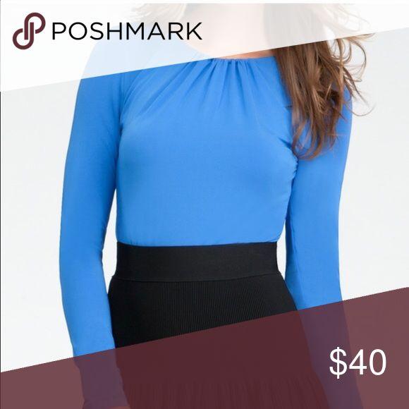 Bebe gorgeous blue bodysuit Beautiful color bebe Tops Tees - Long Sleeve