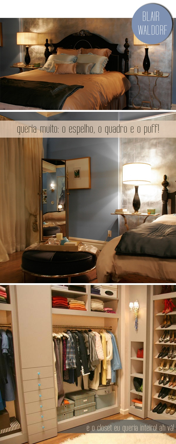 Blair Waldorfs room on Gossip Girl (wish this was Blair parretts room in real life Lol)