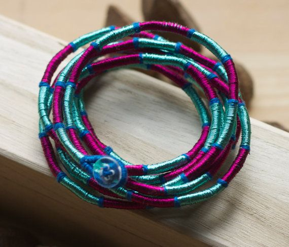Handmade Ethical Zohra bracelet by S jo accessories. Bright and lightweight perfect for summer. £28