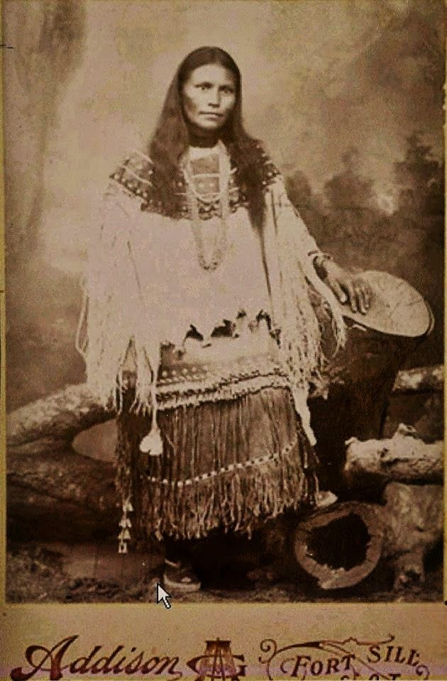*Apache Indian Woman taken at Fort Still.  /Fort's, Native American's should of been  left to live out their life on the land, not in fort's, but greed of the white people didn't let them do that EL/