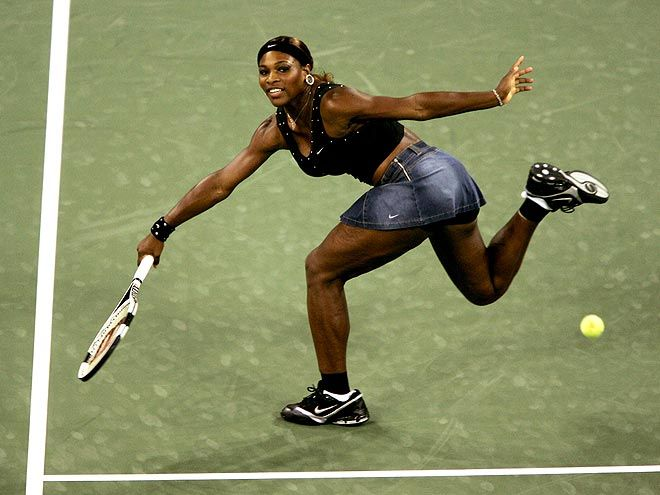 Serena Williams is going for the ball. No doubt she will get it.