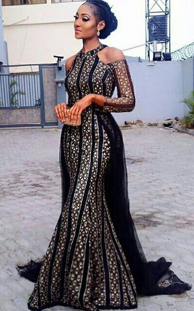 Classy! ✨ @delonyii in a FAB dress by @trishocouture | MUA: @bare2beauty #BNWeddingFlow