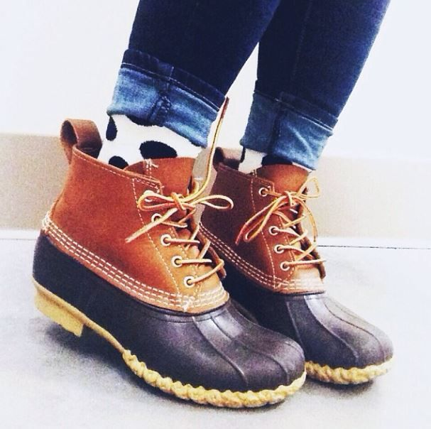 #llbean boots or boots like your north face ones MOM: