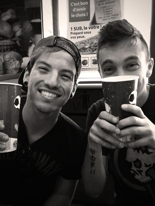 twenty one pilots. I just want miniature versions of them to keep with me everywhere I go so they can talk to me and make me happy when I'm sad
