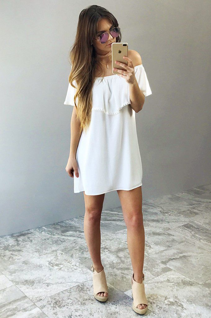Remember Me Dress: White