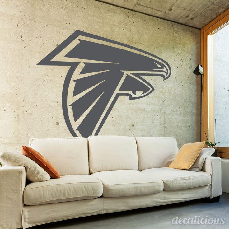 Atlanta Falcons Decal-  #Atlanta #Falcons #Decor,# Falcons #Car #Decal, #Atlanta #Car #Decals, #DecalsForWall, #MacbookDecal, NFL Decals For Glass by decaliciouscom on Etsy