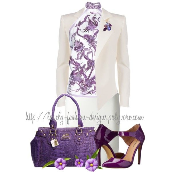 ~♥~ I Love The Color Purple ~♥~ by lovely-fashion-designs on Polyvore featuring moda, Gucci, Alexandre Vauthier, Emilio Pucci, Michael Antonio and Anne Klein