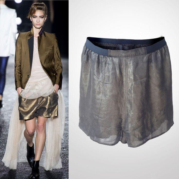 Haider Ackermann Gold Metallic Runway Shorts | eBay