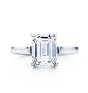 Tiffany emerald cut #wedding - imagine this as a sapphire... Perf