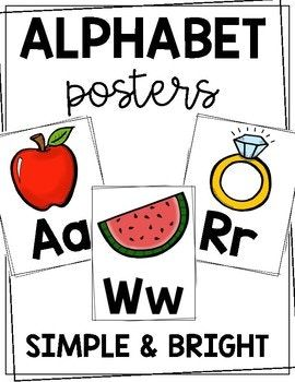 Clean and simple alphabet posters that are perfect for any classroom!