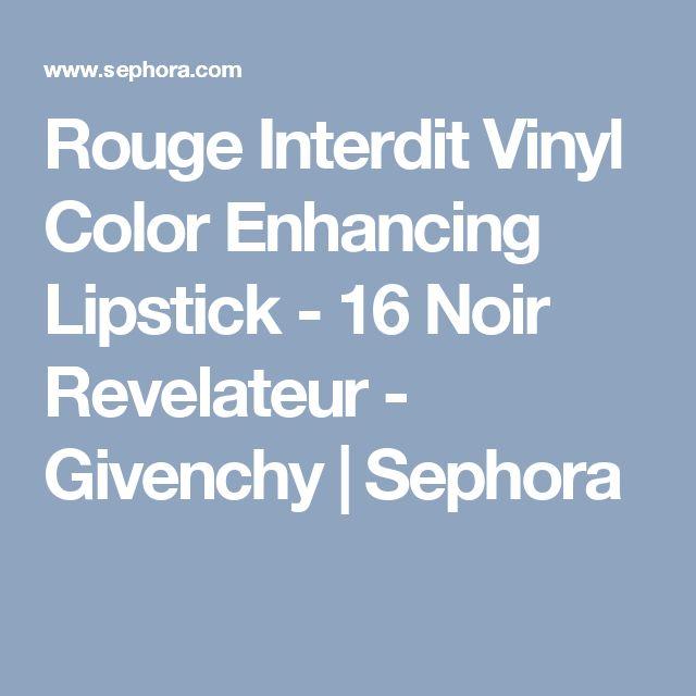 Rouge Interdit Vinyl Color Enhancing Lipstick - 16 Noir Revelateur - Givenchy | Sephora