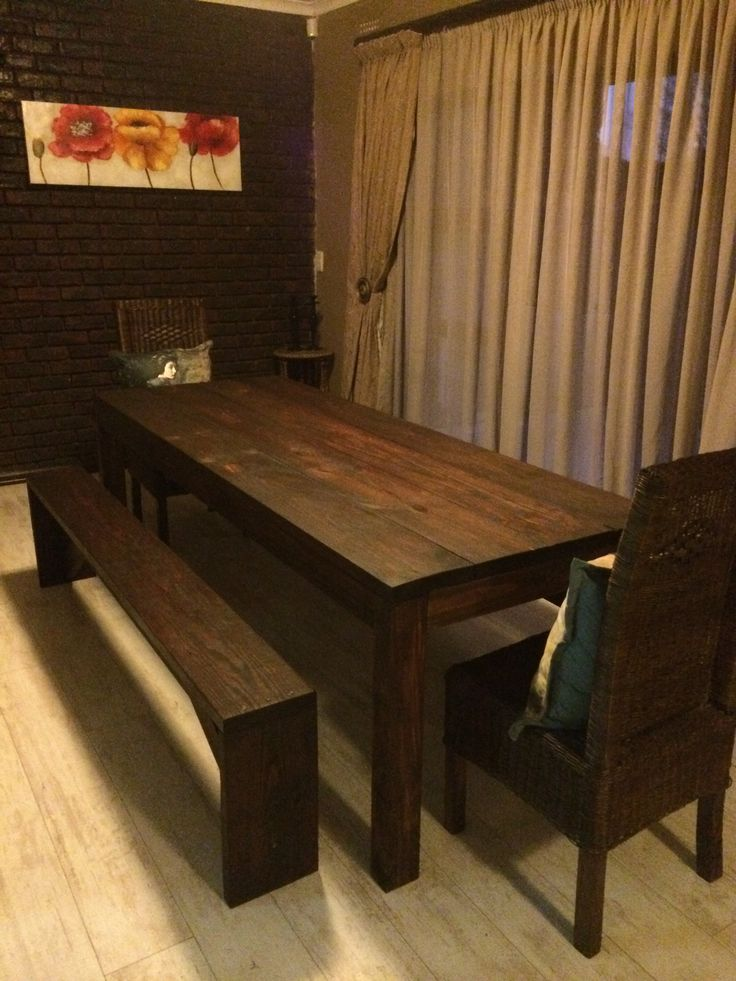 Dinning room table and benches completed