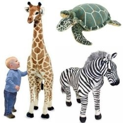 Go giant this year with these big stuffed animals! Find oversized plush animals and large toys like the giant panda, big stuffed zebra, the tall,...