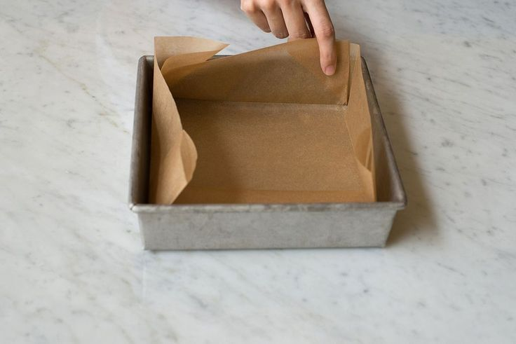 How to perfectly line a pan with parchment paper